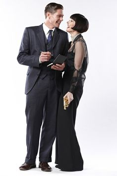 Nathan Page and Essie Davis as Inspector Jack Robinson and the inimitable Phryne Fisher.