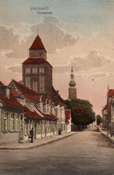 9157/ Foto AK, Greifswald, Domstraße, ca. 1910 | eBay
