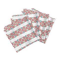 Amarela Dinner Napkins featuring Floral folk pattern of spring flowers by milagrosvita | Roostery Home Decor