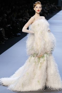 Frida Gustavsson at Christian Dior Haute Couture Spring/Summer 2011.