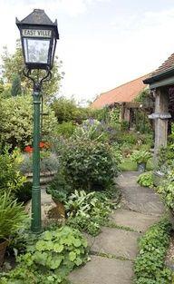 Front yard herb garden.