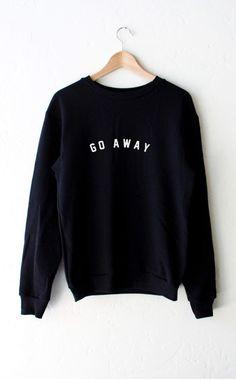 Go Away Sweater - Black