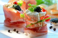 Cured ham appetizers