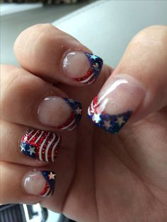 45 of july nail art design ideas patriotic nails, types of nails, Fingernail Designs, Toe Nail Designs, July 4th Nails Designs, Fancy Nails, Trendy Nails, Nail Art Vernis, Nail Nail, Usa Nails, Patriotic Nails