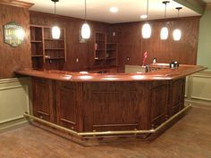 My brother-in-law, after 2 years of hard work, finished building an Irish Pub in his basement - Imgur