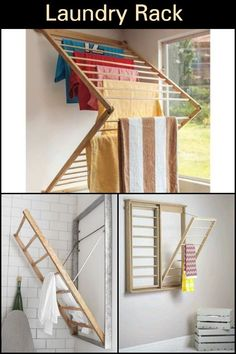 Home Discover Wall Mounted Clothes Drying Rack We allocate a lot of time and effort . Wall Mounted Clothes Drying Rack We allocate a lot of time and effort . Drying Rack Laundry Clothes Drying Racks L Baby Clothes Storage, Laundry Room Organization, Laundry Room Design, Laundry Rooms, Organizing Clutter, Organizing Ideas, Laundry Closet, Mud Rooms, Laundry Storage