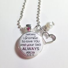 Wedding Gift Ideas For Stepson : STEP Son Keychain or necklace, from New Step- Dad or Mom gift wedding ...