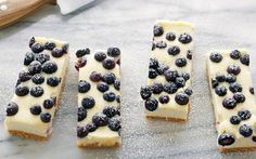 Lemon Blueberry Cheesecake Bars by Tyler Florence (Berries, Blueberry, Lemon) @FoodNetwork_UK