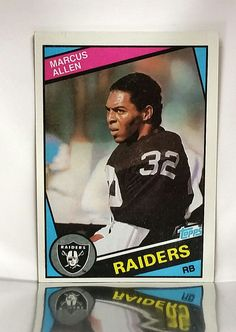 1984 Topps # 98 Marcus Allen, Raiders, HOF Running Back, Football Card, NM-MT