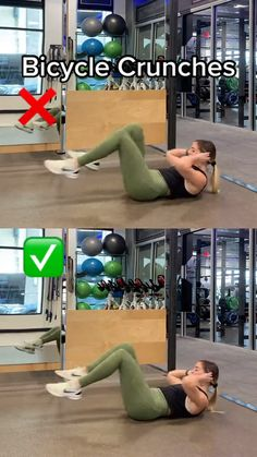 Summer Body Workouts, Full Body Gym Workout, Gym Workout Videos, Gym Workout For Beginners, Fitness Workout For Women, Waist Workout, Weight Loss Workout Plan, Workout Challenge, Bicycle Crunches