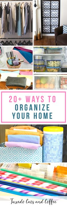 With spring upon us, it's a great time to get organized and go through your house decluttering, downsizing, and learning how to organize your home. Here are 20 ways to organize your home, as well as tips, project ideas, and more.