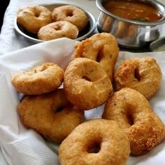 medu vada: south indian fried , crispy and soft snack made from black grams