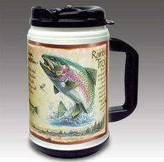 American Expedition Rainbow Trout 24 oz. Plastic Thermal Mug