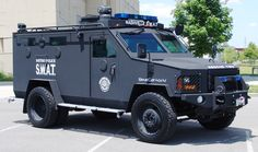 A Nashville Sheriff's Police Bearcat. Sign of a police state? Hardware of martial law? A Lenco Bearcat rescue vehicle belonging tot he Nashville SWAT team. Photo: User Sdlewis at Wikimedia Commons, who released it into the public domain Rescue Vehicles, Army Vehicles, Armored Vehicles, Police Truck, Police Cars, Swat Police, Military Gear, Military Police, Armored Truck