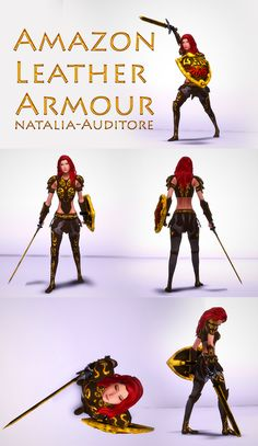 Sims 4 Challenges, Sims Stories, Warrior Outfit, Sims 4 Clothing, Female Clothing, The Sims 4 Download, Leather Armor, Alpha Female, Medieval Armor