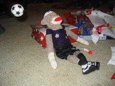 Soccer Sock Monkey made for my nephew.