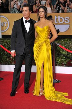 Matthew McConaughey in Dolce & Gabbana with Camila Alves in Donna Karan. [Photo by Donato Sardella]