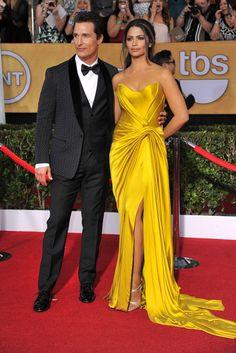 Matthew McConaughey in Dolce & Gabbana with Camila Alves in Donna Karan. [Photo by Donato Sardella]
