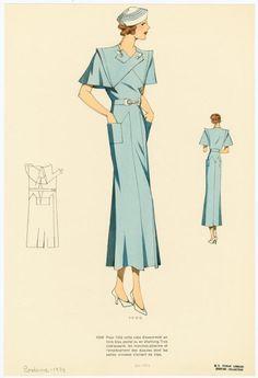 Pour l'été cette robe... Another interesting skirt (and bodice) design.