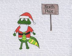 This design by Grade 11 student Tiffany Lew was the second-place entry in our 2012 Christmas Card Competition!