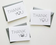 cute thank you notes for kid gifts :)