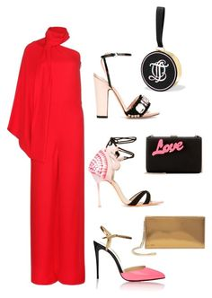 """""""Jumping For Love!!!"""" by la-harrell-styling-co on Polyvore featuring Valentino, Christian Louboutin, Sophia Webster, Rochas, STELLA McCARTNEY, Jimmy Choo, Olympia Le-Tan, women's clothing, women and female"""