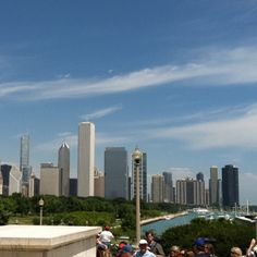 Chicago skyline from Museum Campus, IL