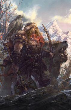 Dwarven beast master and hunter.