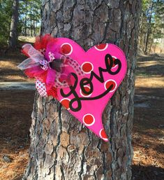 Valentine door hanger valentine by Furnitureflipalabama on Etsy