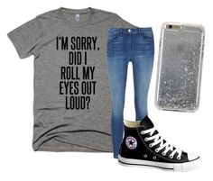"""Lazy Day"" by caleighbrooke-1 ❤ liked on Polyvore featuring Converse and Agent 18"