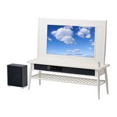 """HIMNA Kombinasjon/40"""" TV/2.1 lydsystem IKEA Denne komplette løsningen med både TV og lydsystem holder stua ryddig ved å skjule alt ledningsrotet."""