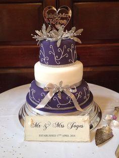 Cadbury purple wedding cake.