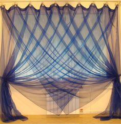 Contemporary sheer curtain styles, blue curtains, blue sheer curtains, it's modern design of sheer curtains for window covering and decoration, These contemporary curtain hanged by curtain hooks Red And White Curtains, Blue Curtains, Hanging Curtains, Sheer Curtains, Window Curtains, Drapery Styles, Curtain Styles, Curtain Designs, Curtain Ideas
