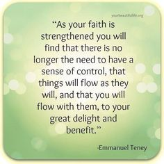 Having faith makes all the difference...