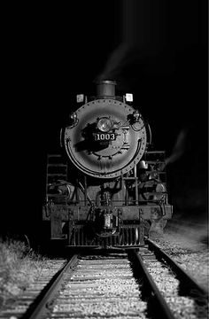 steam powered train engine. Want to do a senior picture on one of these.
