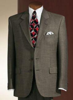 SKU#MUBR3 Men Black & Red Stripe Vested Suit 3 Button Suit   Black ...