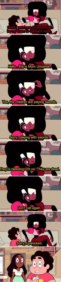 Possibly my favorite Steven Universe moment ever. Is the part about them being dead POSSIBLY her future vision?