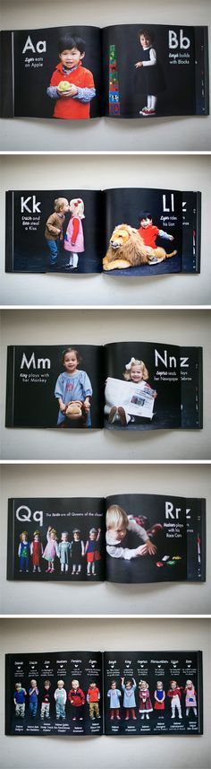 We love this Shutterfly photo book created by Susan. Check out how she got created with the alphabet.