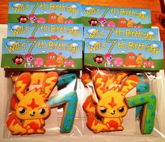 Katsuma Moshi Monster Cookies. Having a Moshi Monster party ... these Moshi Monster Cookies make great party favors or party food.