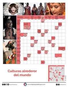 Autodefinidos. Culturas en el mundo. #Pasatiempos #Entretenimiento #Autodefinidos #Culturas #Etnias Más en www.sinapsispasatiempos.com