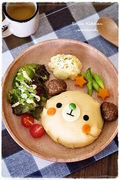 bear omelet plate