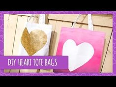 ▶ DIY Heart Tote Bags - HGTV Handmade - YouTube.  you could sew a simple tote bag, then paint it! love this idea.
