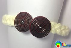 Designer Baby Yarn Button Hairband/Headband/Hair Accessory by ChirpyCreations on Etsy