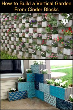Grow Herbs, Flowers or Succulents in a Tight Space by Making a Cinder Block Vertical Garden