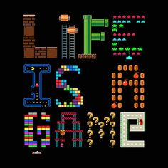 Life is a game by Tshirtbaba #gaming #print #illustration