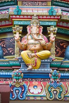 Colorful hindu temple Stock Photos, Illustrations and Vector Art - Page 2 | Depositphotos® Jain Temple, Star Wars Watch, Asian Architecture, Om Namah Shivaya, Hindu Deities, Lord Ganesha, Art Pages, Travel Photographer, Southeast Asia