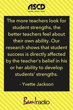 Make sure you focus on students' strengths more than their weaknesses. Learn why this works by listening to this podcast.