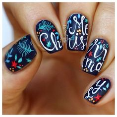 Nice 56 Easy but Joyful Christmas Nails Art Ideas You Will Totally Love. More at http://aksahinjewelry.com/2017/09/28/56-easy-joyful-christmas-nails-art-ideas-will-totally-love/