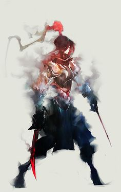 Warrior by Aaron Nakahara Character Concept, Character Art, Concept Art, Character Design, Fantasy Characters, Female Characters, Samurai Artwork, Samurai Warrior, Woman Warrior