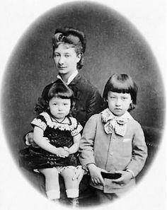 Her Royal Highness Princess Władysław Czartoryska with sons, left, Prince Witold Czartoryski and Prince Adam Czartoryski